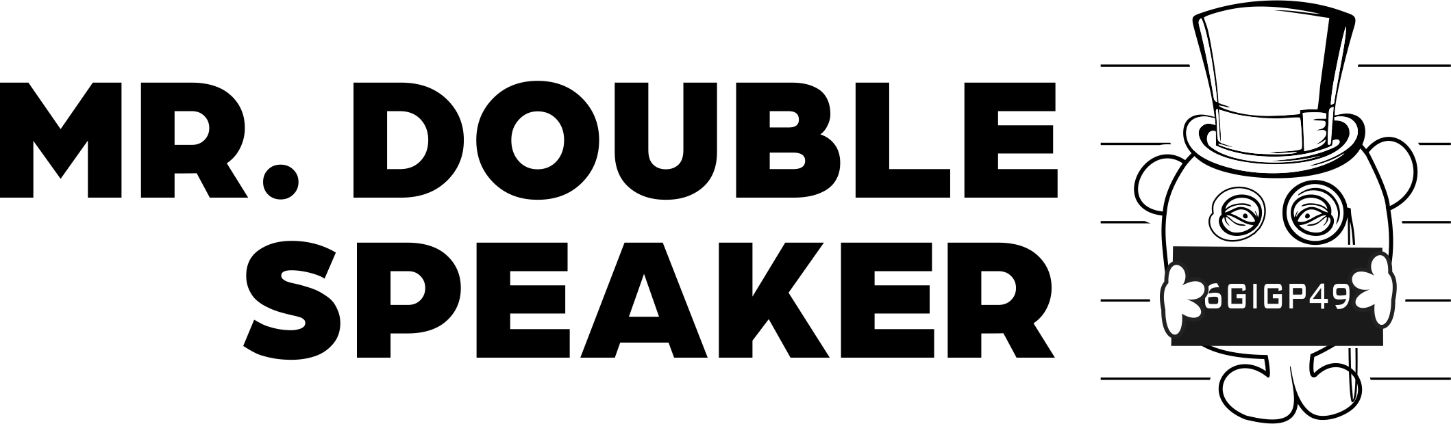Mr Double Speaker text logo