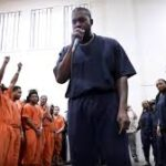 Kanye performing in Houston jail